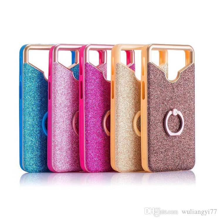 gran selección de 2019 muy bonito precio oficial Universal Phone Case For 4 5.5 Inch Phones Rotated Ring CellPhone Cover For  Iphone Samsung Huawei Xiaomi HTC BQ Sony LG Coque Fundas Case Cell Phone ...