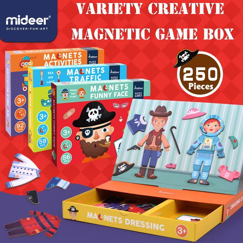 Puzzle creativo magnética Juguetes para niños Juguetes educativos juego ambientado Diversión adhesivos reutilizables para niños Arte Proyecto de regalo