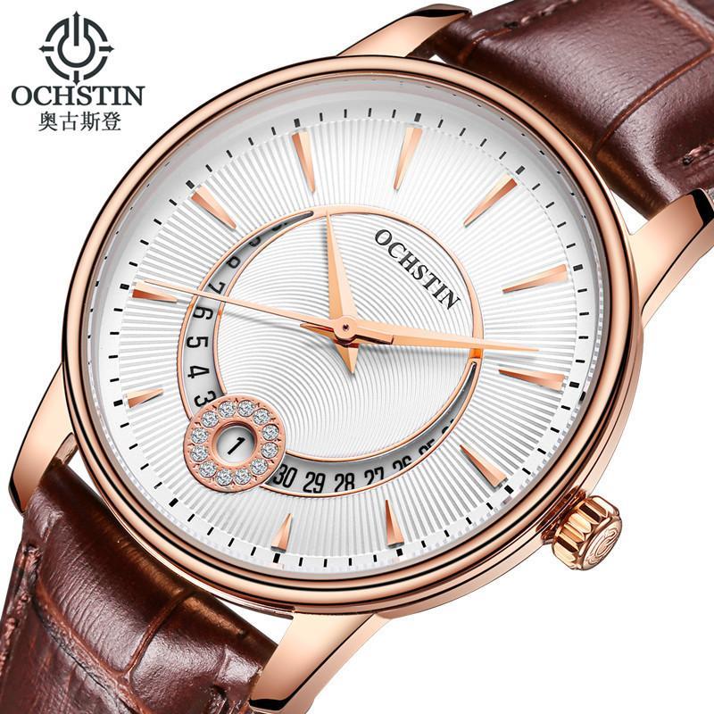 OCHSTIN Marken-Frauen-Quarz-Uhr-Mode-Uhr-Frauen-Armbanduhr-Uhr-Uhren Mujer Kleid Damenuhr Geschäft Montre Femme V191217