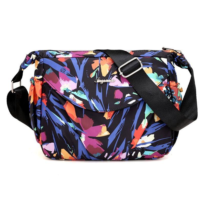Summer style Floral New Handbags Women Messenger Bags Waterproof Nylon Ladies Shoulder Crossbody Bags Flowers Printing Women Bag #263899