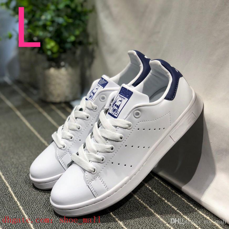 Acheter 2019 Adidas Stan Smith Shoes New Adidas Superstar Shoes Chaussures Pas Cher Femmes Hommes Casual Baskets En Cuir Superstars Skateboard