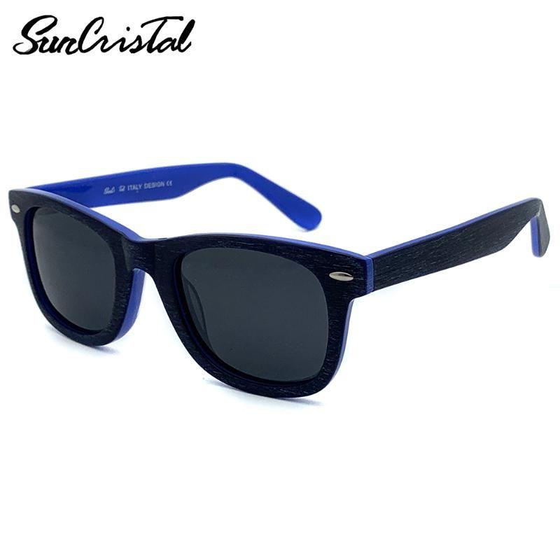 pequeños hombres de la cara mujeres petite adolescente clásico remache sin deslumbramiento acetato de protección UV gafas de sol del Nunca SCT7047