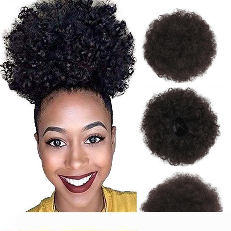 Afro Kinky Curly Hair Ponytail African American Short Afro Kinky Curly Wrap Synthetic Drawstring Puff Ponytail