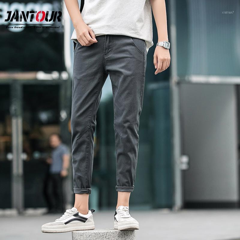 2019 년 봄 여름면 발목 길이 바지 나 새로운 캐주얼 바지 남성 슬림핏 치노 패션 바지 남성 브랜드 의류 (271)