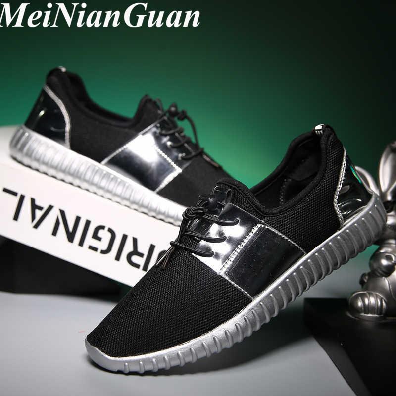 Soft Light Running Shoes deslizamento sapatilhas dos homens Big Size Plataforma de Caminhar Shoe Glitter Men on Man Sport Shoes Antiderrapante Masculino A2 Shoe