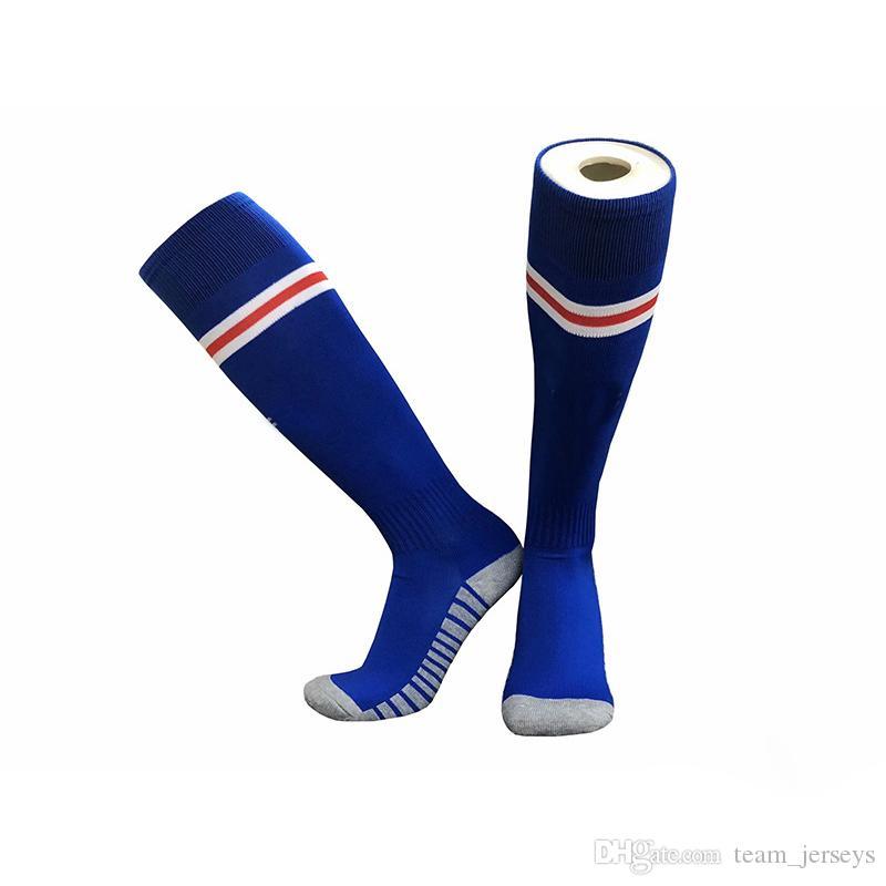 Профессиональные спортивные футбольные носки для взрослых Детей Мужчин футбольного клуба Knee High упражнение Обучение дети Длинных чулки носки тайского качества