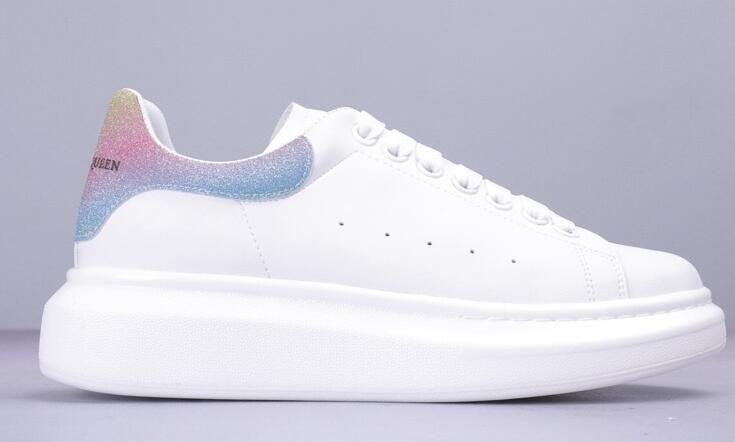 Yeni Sıcak Marka Tasarımcı rahat ayakkabı erkekler Kadınlar Moda Deri Düşük En Sneakers Eğitmenler Womens Siyah Kadife Glitter Beyaz Elbise Ayakkabı