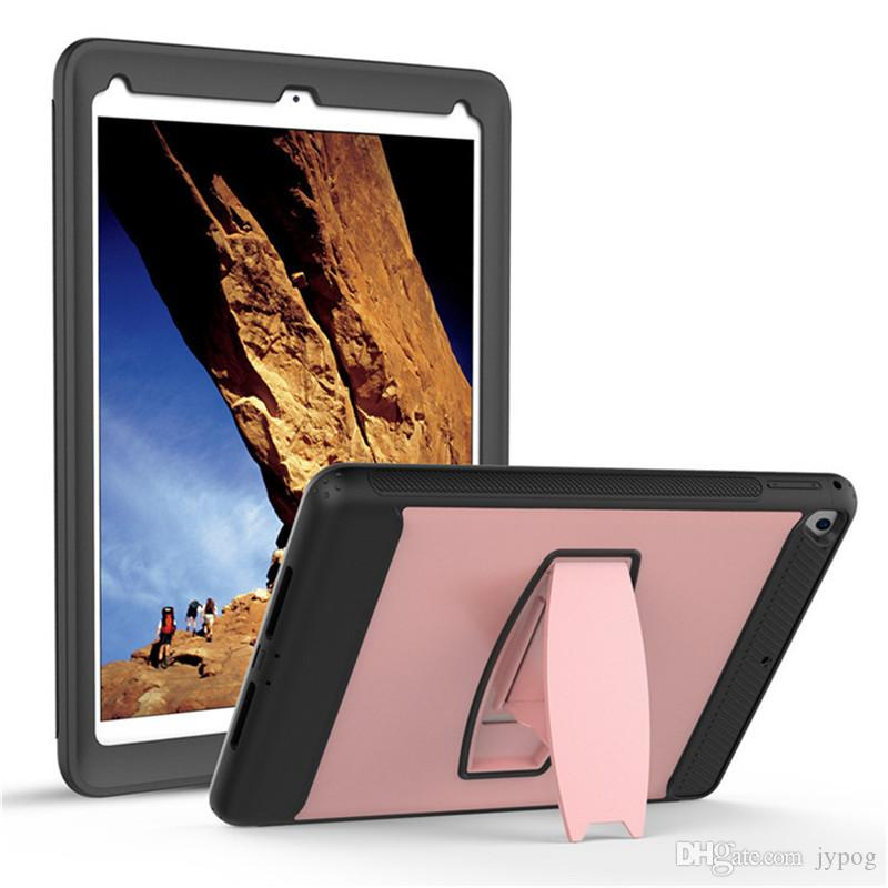 For New iPad 9.7 2018 Case Layer Hybrid Heavy Duty Shockproof Armor Defender Protective Case Cover for New iPad 9.7 inch