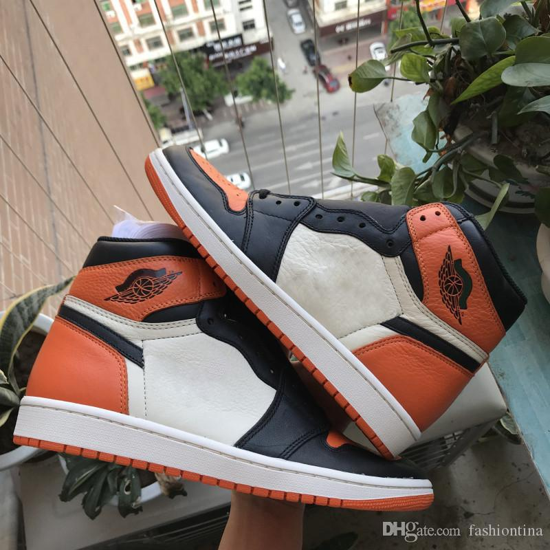 2015 Lanzamiento Authentic 1 High OG Shattered Backboard 1S Men Basketball Shoes Sports Sneakers Con Caja Original 555088-005