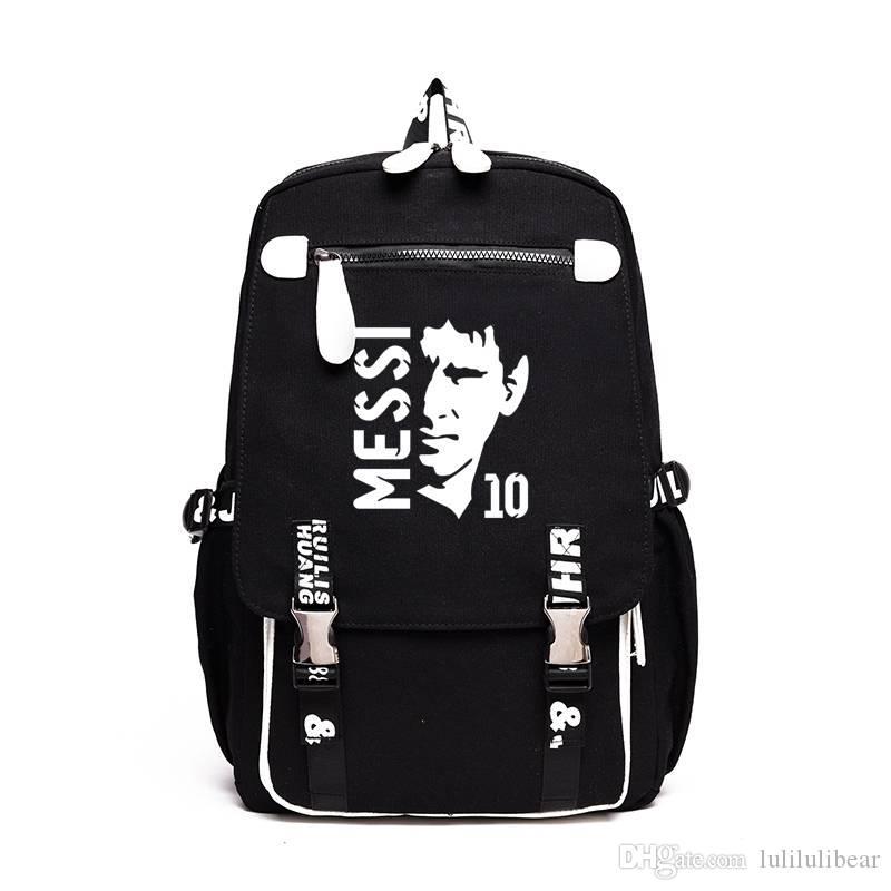 جديد وصول ميسي قماش القدم الكرة حقيبة بنين بنات حقيبة عالية الجودة حقيبة مدرسية للمراهقين الرجال النساء rucksack حقيبة سفر محمول