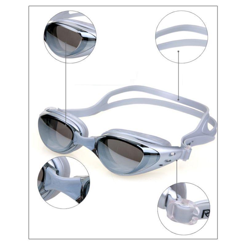 Waterproof Masculino Feminino Swim Goggles Óculos Homens Anti Fog Unisex Adult Swimming Quadro Piscina Desporto Óculos Spectacles