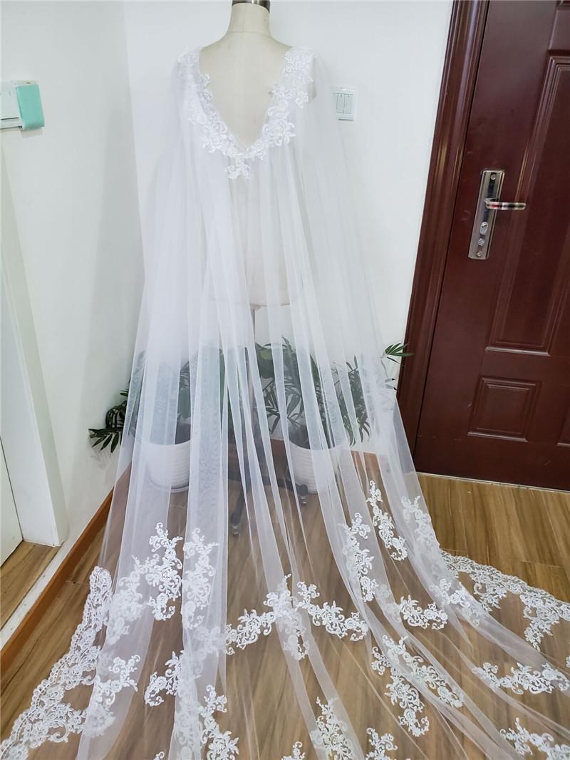 Long Cape,Floral Design Cape,Appliqued Cape,Wedding Cloak,Tulle Cloak,Bridal Shawl,Formal Party Wrap,Evening Shawl,Bridal Bolero,Accessory