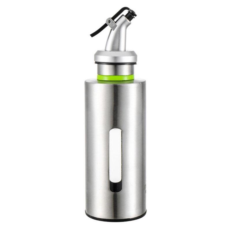 VENDA QUENTE Frasco de óleo de cozinha em aço inoxidável molho Barcos à prova de vazamentos molho de vinagre Galheta armazenamento Dispenser Olive Oil Container