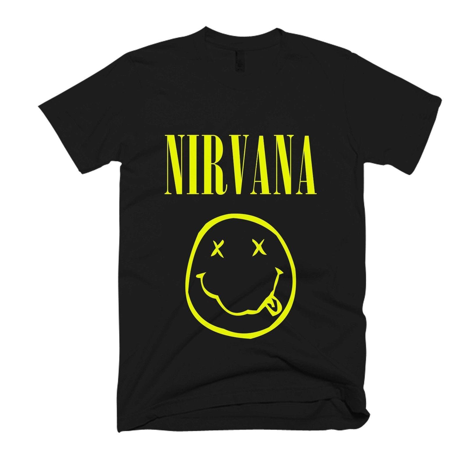 Fashion-Nirvana Logo Hommes / Femmes T Shirt de haute qualité livraison gratuite gros Modèles de base tee été Vente chaude O-cou Mode Imprimé