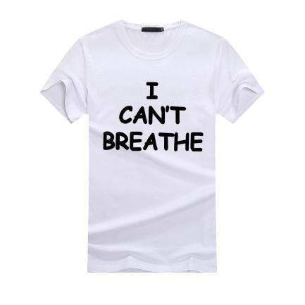Moda para hombre camisetas No puedo respirar Tees tapas ocasionales Hombres Mujeres 2020 Caliente venta verano camisetas t camisas de lujo 14 estilos activo Letter Tops