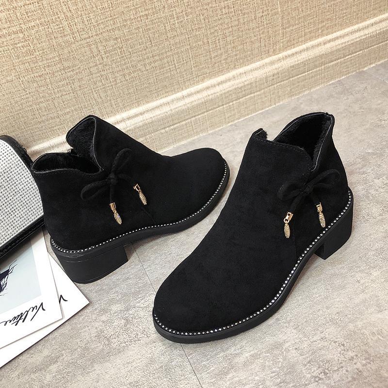 الساخن بيع جديد الربيع الأنيق / الخريف أنثى الكاحل أحذية نسائية كعوب منخفضة زيبر الجوارب امرأة الراحة اليومية اللباس أحذية