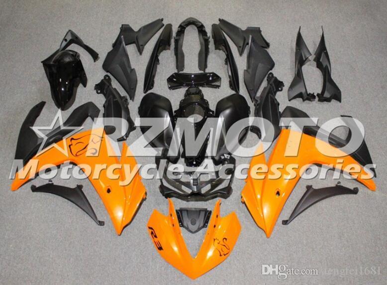 Kit carenatura moto ABS di qualità OEM nuovo stampo ad iniezione per YAMAHA R3 R25 2014 2015 2016 2017 2018 2019 Set carrozzeria Personalizzato Arancione Nero