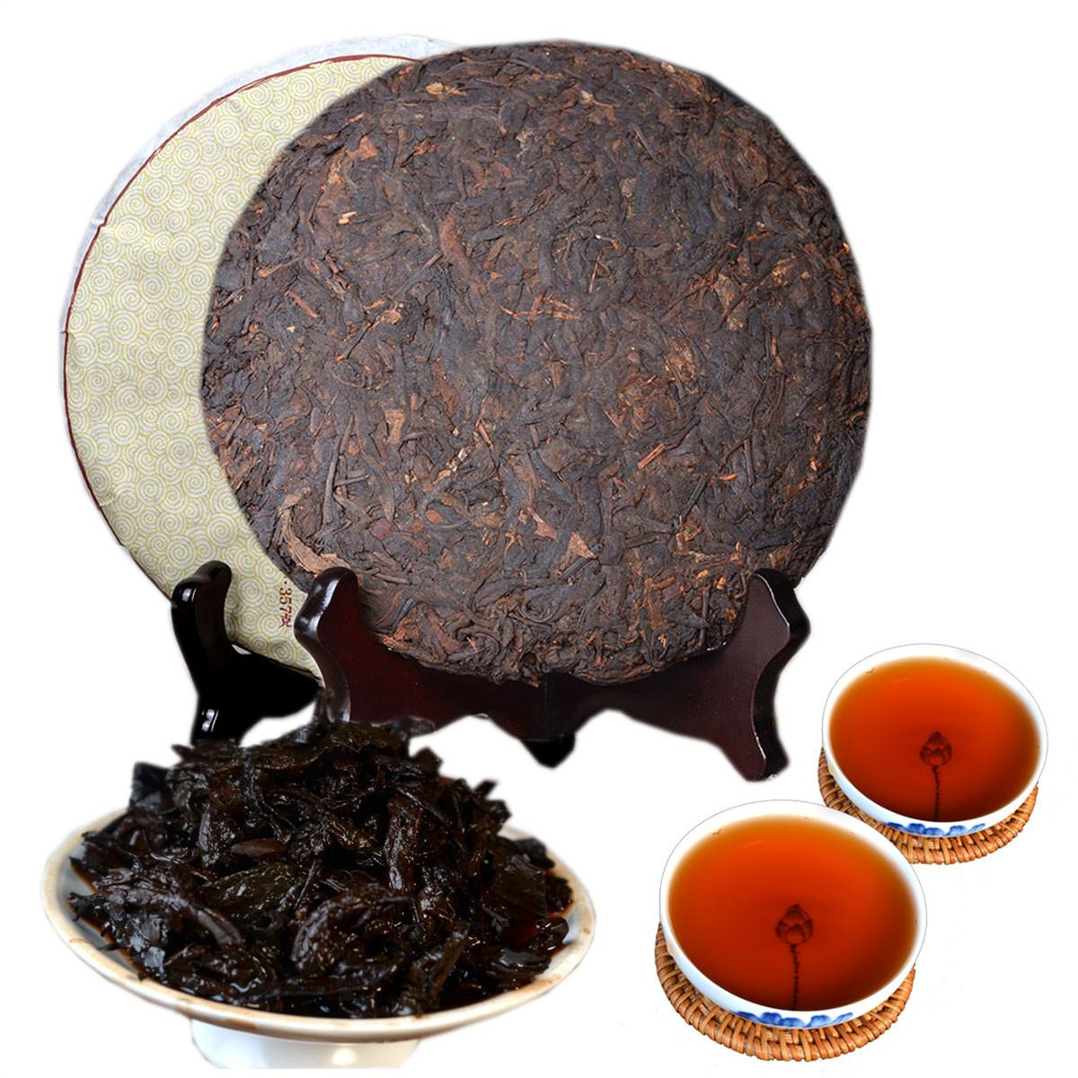 357g Yunnan 8 Years Ancient Fragrance Puer Tea Raw Puer Tea Cake Organic Natural Pu'er Oldest Tree Green Puer Preference Green Food