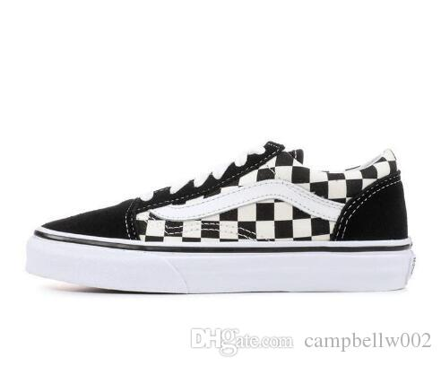 Original Vans Old Skool MIx Checker OTW REPEAT FEAR Skate OF GOD CHECKERBOARD Canvas Men Women Sport Sneakers Fashion Casual Shoes Yellow Shoes Gold