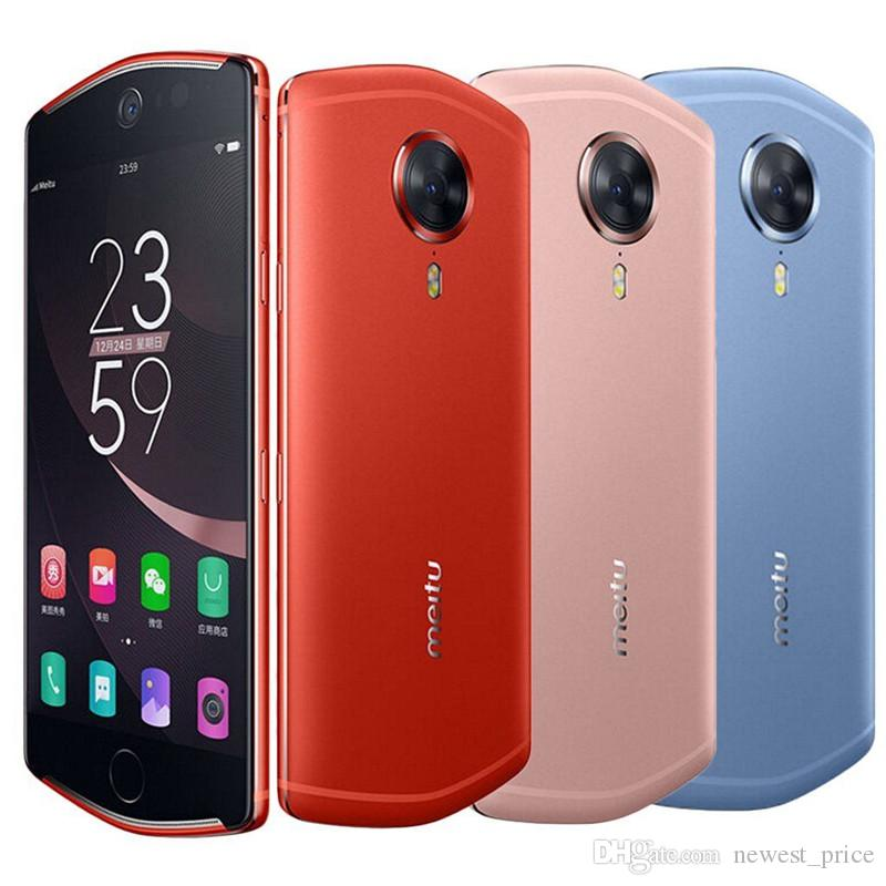 "Unlocked Original Meitu T8 4G LTE Mobile Phone 4GB RAM 128GB ROM MT6797 Deca Core Android 5.2"" 21.0MP Selfie Beauty Face ID Smart Cell Phone"