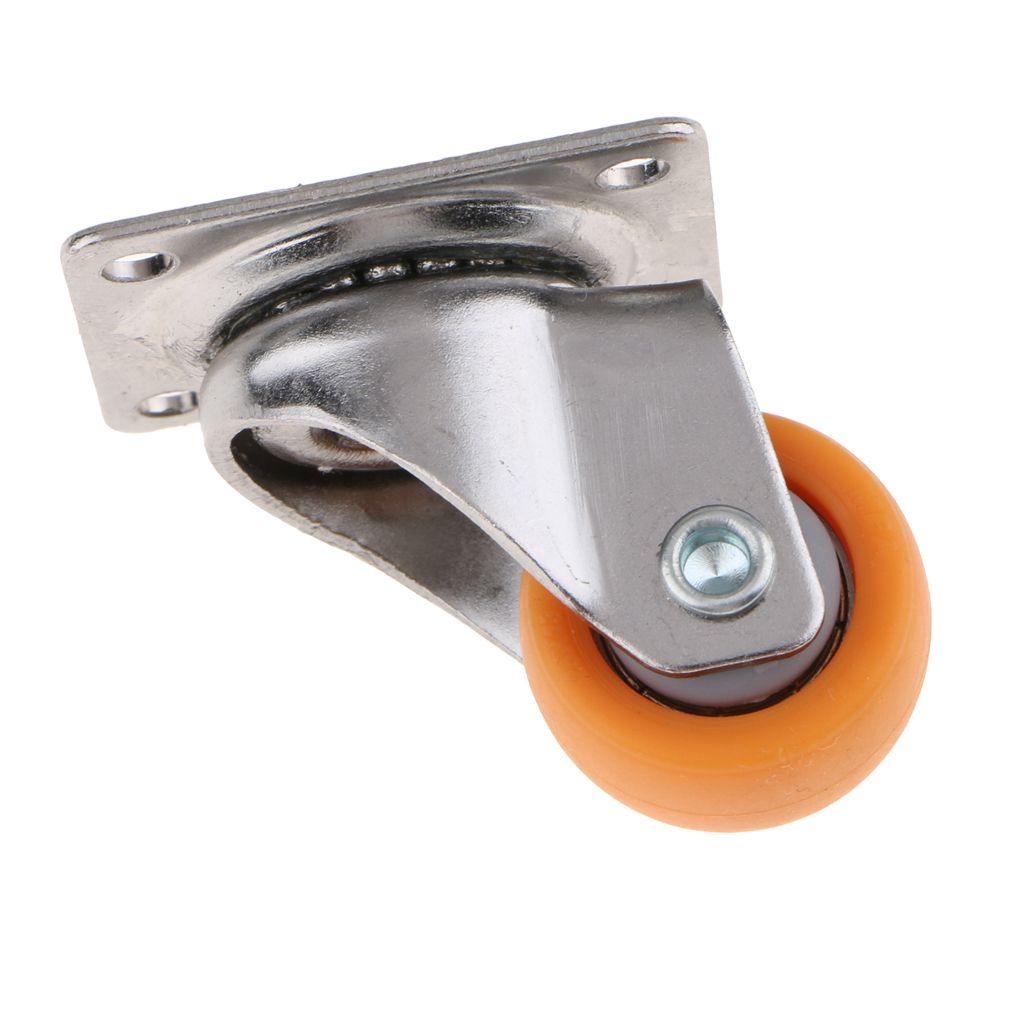 rotaci/ón de 360 grados Dasmarine Juego de 4 ruedas giratorias de nailon negro de 48 mm con 16 tornillos juego de 4