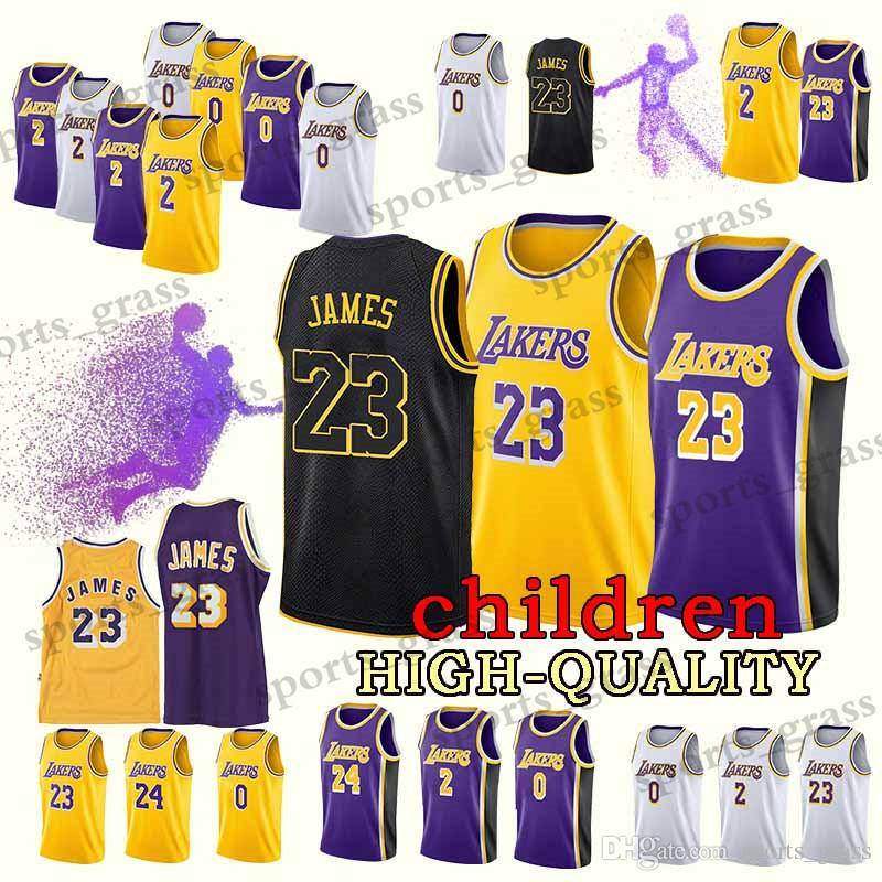 newest d0ea9 4bea7 2019 YOUTH Los Angeles 23 LeBron James Jersey Lakers Kobe 24 Bryant Kyle 0  Kuzma Lonzo 2 Ball Earvin 32 Johnson Jerseys RETRO From Sports_grass, ...