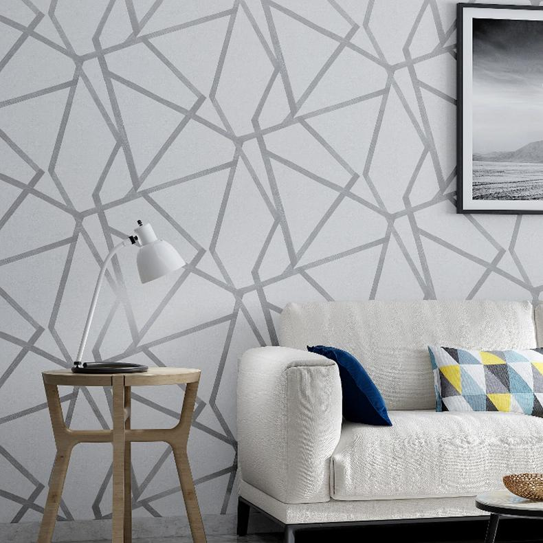 Parede Papel De Продажа Аннотация Геометрических обои Современное древесное волокно для стен 3D Нетканые обои в рулонах для гостиной Home Decor