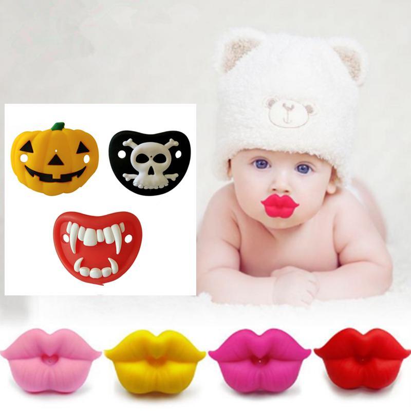 Nouveau bébé Sucette rouge baiser lèvres muettes Sucettes drôle silicone bébé Nipples Teether Sucettes Sucette bébé soins dentaires ELE360