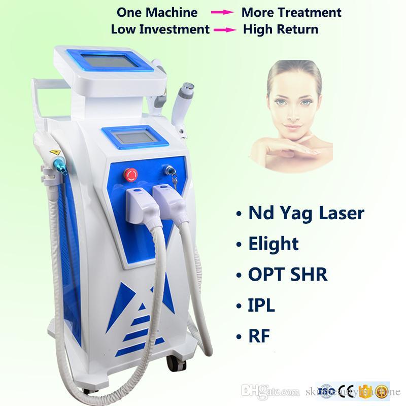 2019 Vielseitige IPL Elight Hautstraffung Laser-Haarentfernungsgeräte OPT SHR Elight Yag Laser-Tattooentfernung Elight Hautverjüngung
