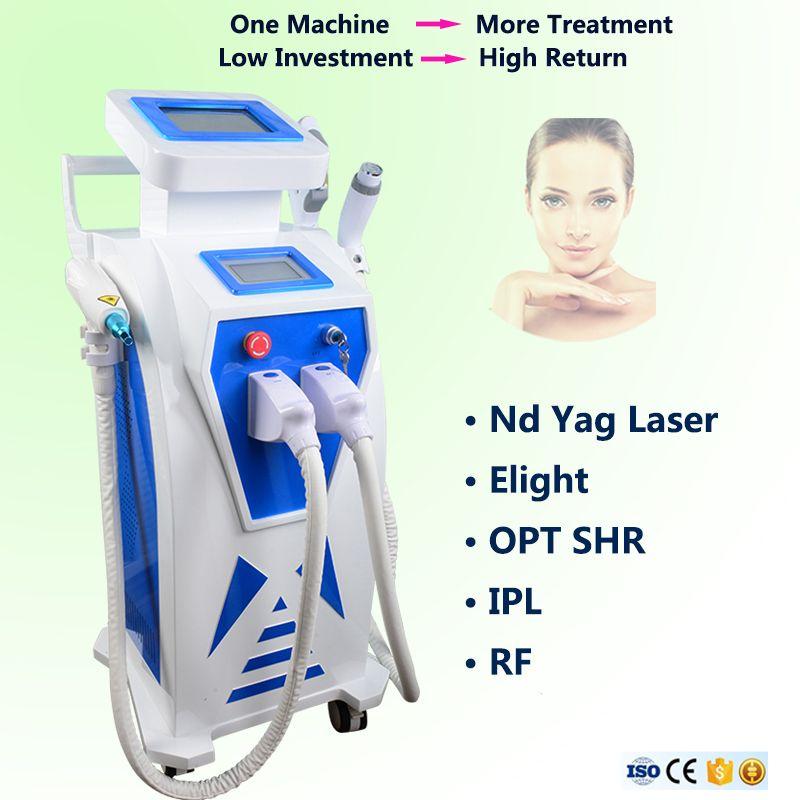 2019 IPL Elight versatile che stringe l'attrezzatura di depilazione del laser OPT SHR Elight Yag laser rimozione del tatuaggio Elight ringiovanimento della pelle