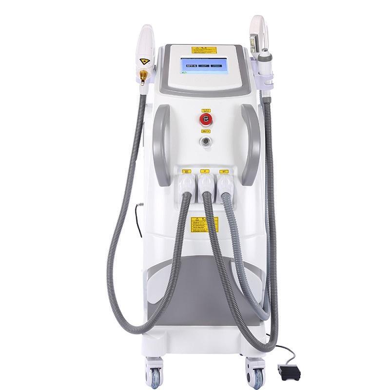 2020 3 in 1Multifunction RF Hautverjüngung Laser-Entfernung Tätowierung E-Licht IPL Haarentfernung Maschine