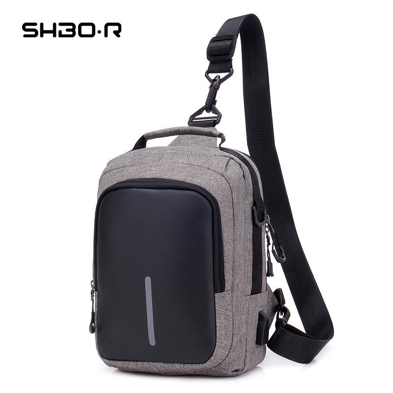 Womens Designer Bags chest USB charging large capacity single shoulder BagQJYE