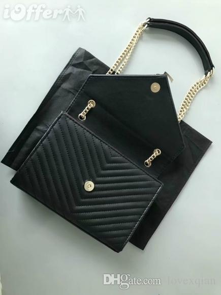 2018 nouveaux sacs à bandoulière en cuir de créateur en cuir à rabat avec sac à main pour femme noir