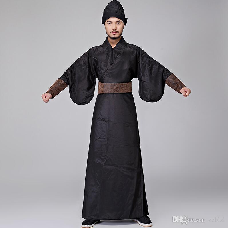 Hanfu Lo stesso stile del famoso romanzo cinese Tre Regni Liu Bei, Zhang Fe GuanYu dramma dell'eroe fase coraggioso uomo Costume Romance