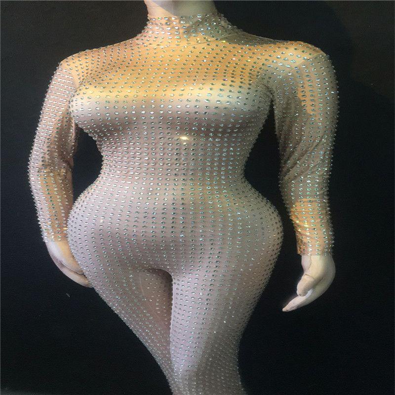 E89 sexy strass feminino desempenho bodysuit dj usa jumpsuit ds outfits pólo trajes de dança mostra partido roupas trajes bar usa modelo