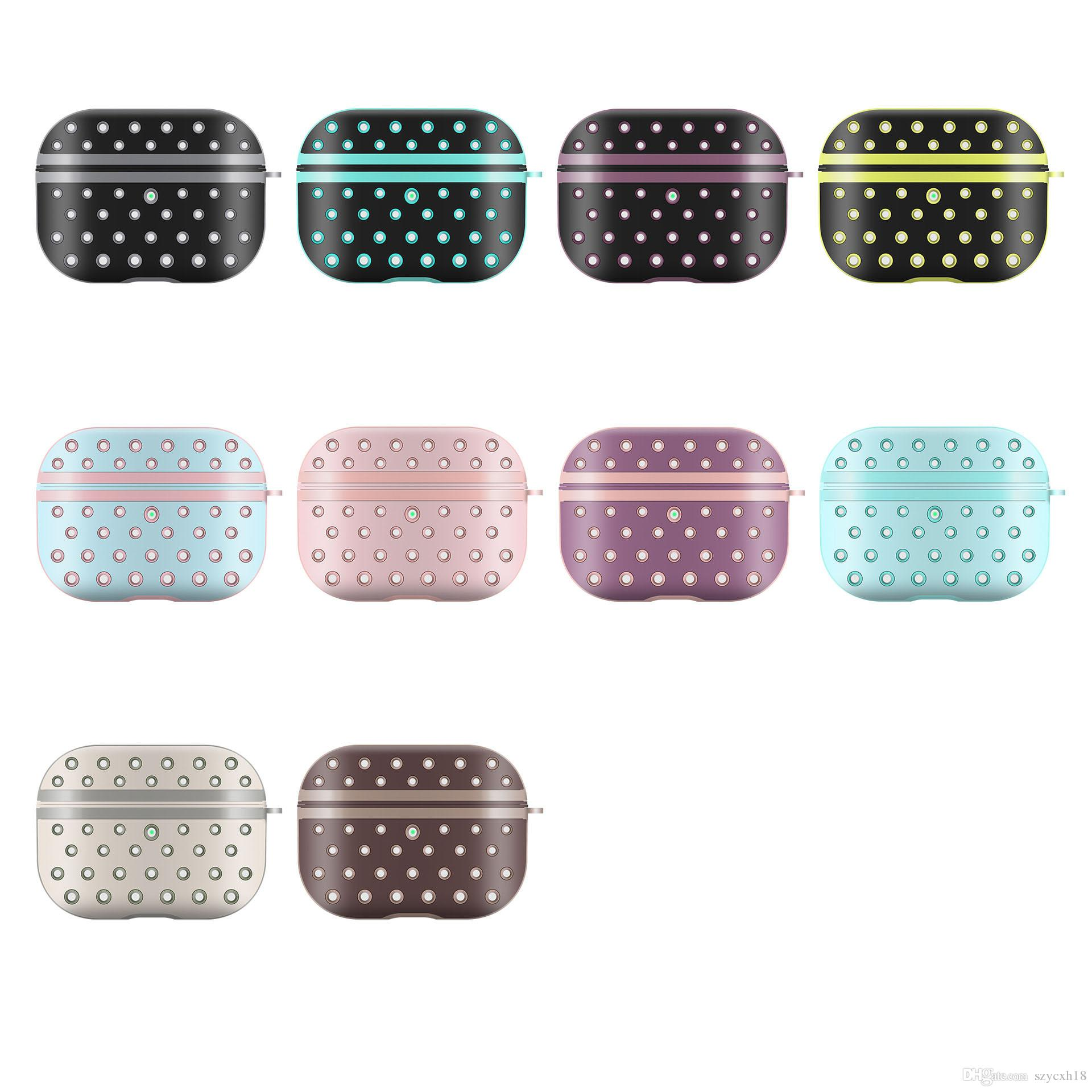 For AirPods pro case cover designer luxury Silicone Headphone Case bag NK honeycomb earphone bag cover For Airpods Charging Box Protective