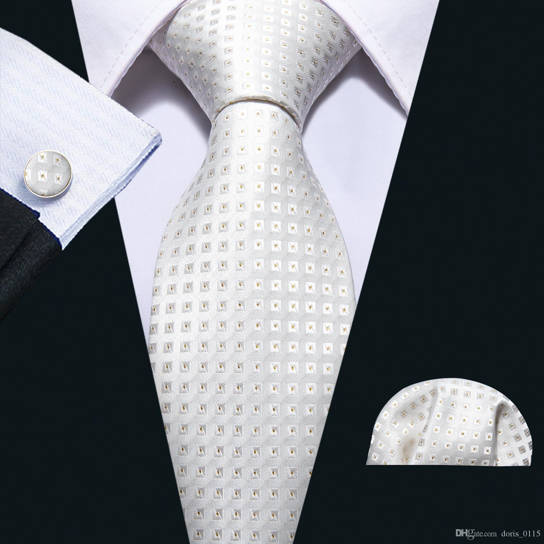 Привет-галстук новые прибывающие галстуки мужская мода Щепка плед шеи галстук карманные квадратные запонки набор для мужской деловой вечеринки Н-5077