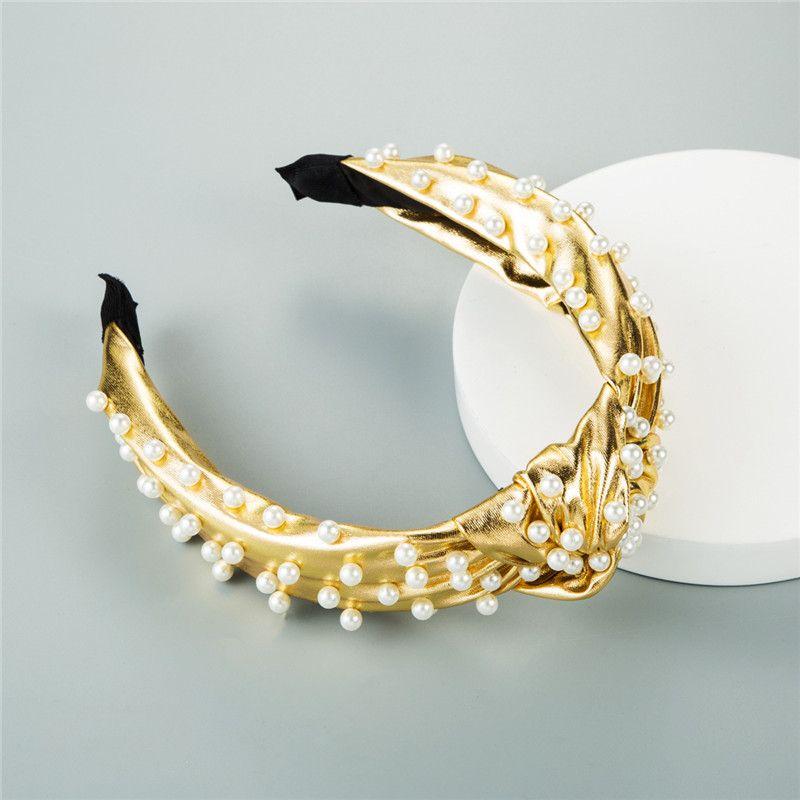 Rettangolo dei capelli della forcella accessori Drop Shipping clip Oro Argento di colore Perla d'imitazione dei capelli delle donne d'epoca barocca Fasce di lusso