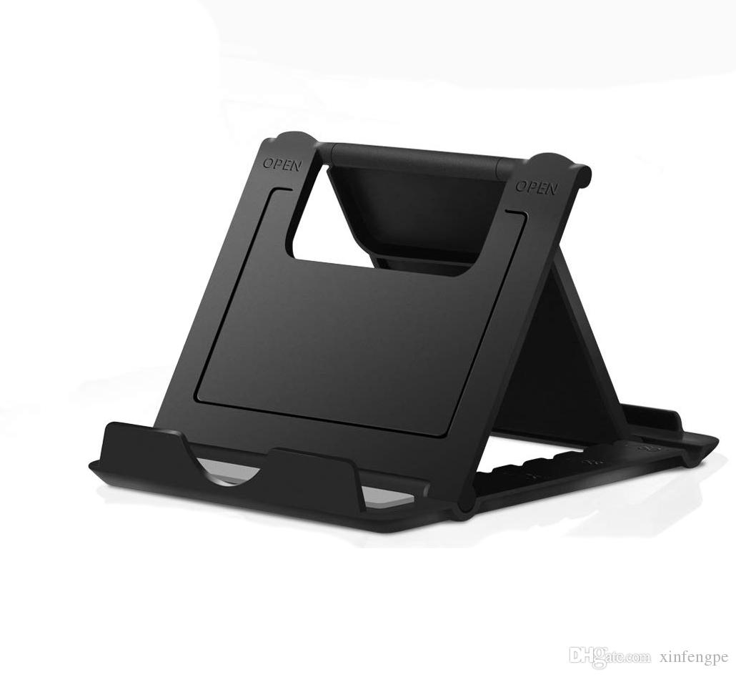 "Cell Phone Stand,Tablet Stand,Universal Foldable Multi-Angle Pocket Desktop fold Holder Cradle for Tablets(6-11"")"