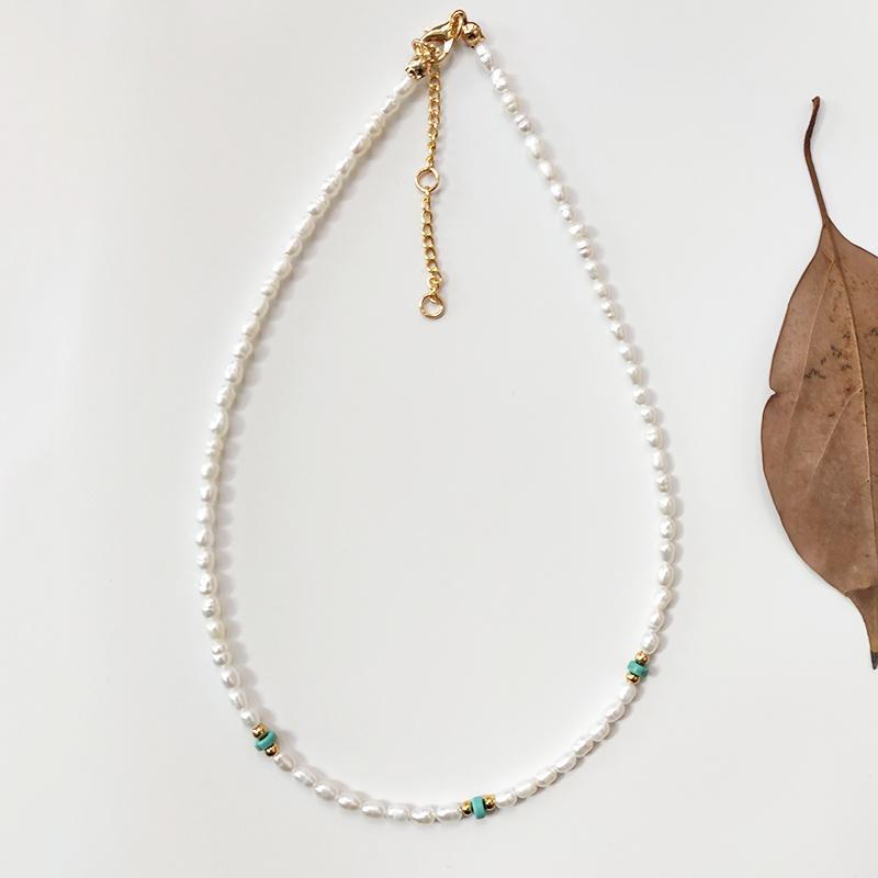 Kadınların küçük inciler moda doğal inci el yapımı ayarlanabilir takı 2020 yaz çekicilik gerdanlık hediye istiflenebilir kolye enfes