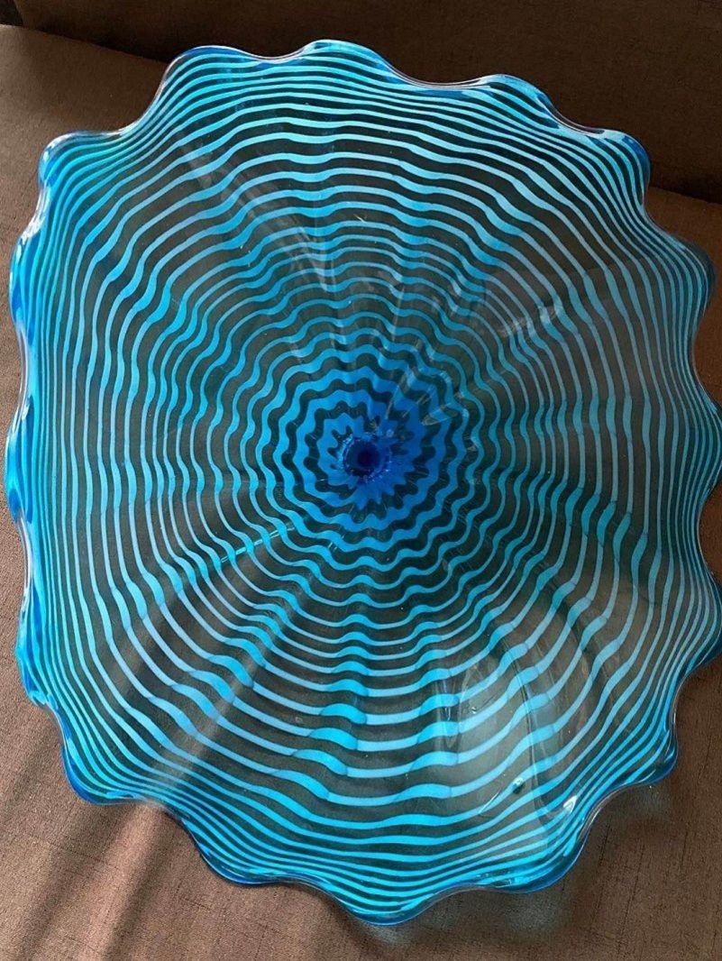 Взорное стекло Арт Настенные плиты для гостиничного номера Современное Мурано Стеклянная Стекло Стена Стена Художественная Оформление Мурано Стеклянные пластины ручной работы