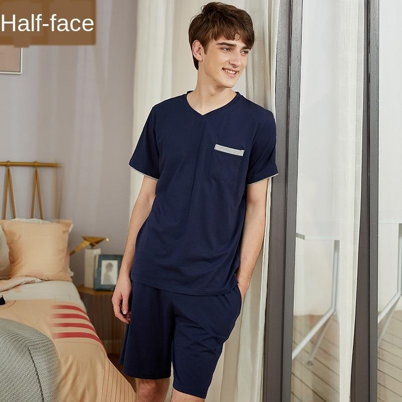 pijamas grande malha modal tamanho de algodão stretch roupas V-neck terno camisola de manga curta de ClothingAcessórios yLI05 Verão pode ser desgastado U4fEk