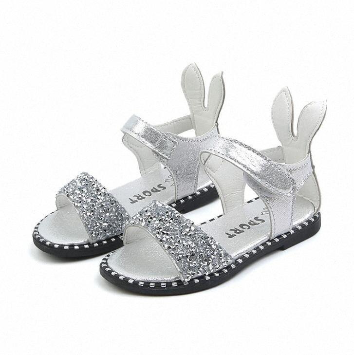 Crianças Sandals Princesa Festa de Verão Crianças Sandálias da criança Bebés Meninas Wedding Glitter Sandalias escola Casual Shoes Crianças Calçado Tod 3vJ3 #