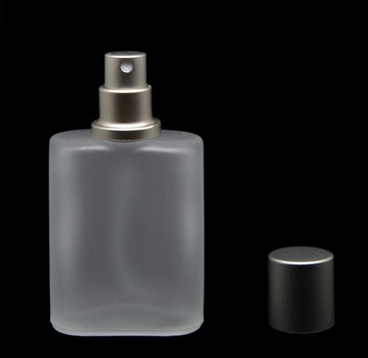 30ml Grey Coppola Stile smerigliato Semi di vetro libera Bottiglia dello spruzzo di profumo di vetro dello spruzzo dell'atomizzatore bottiglie riutilizzabili vuote