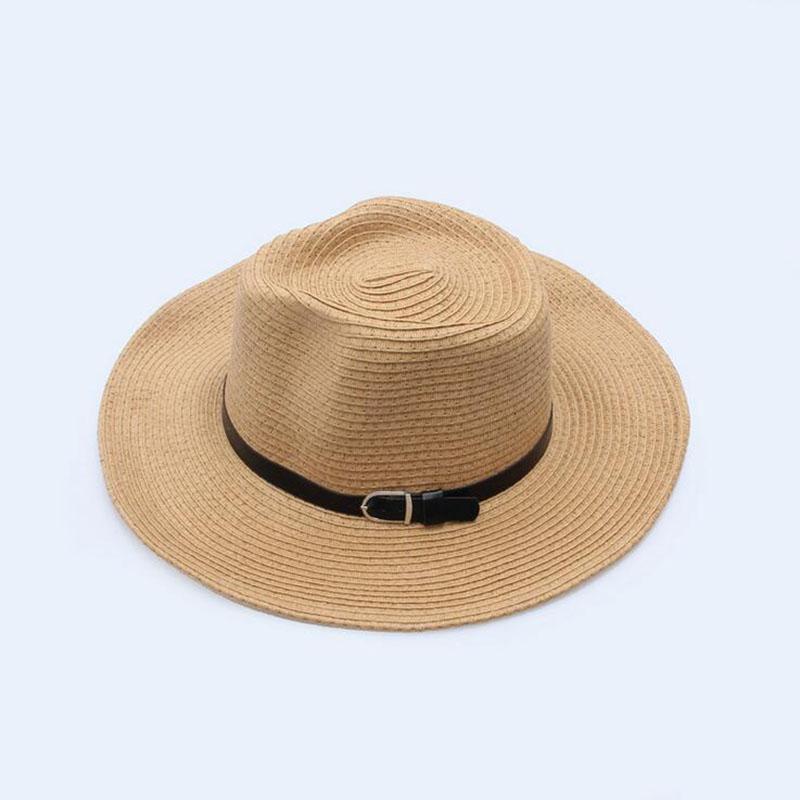 Nova chegada Verão audlt Moda Anel chapéu de palha para o chapéu homens curso da praia chapéu de sol Mulher grandes Brim Panamá Fedora Mulheres palha