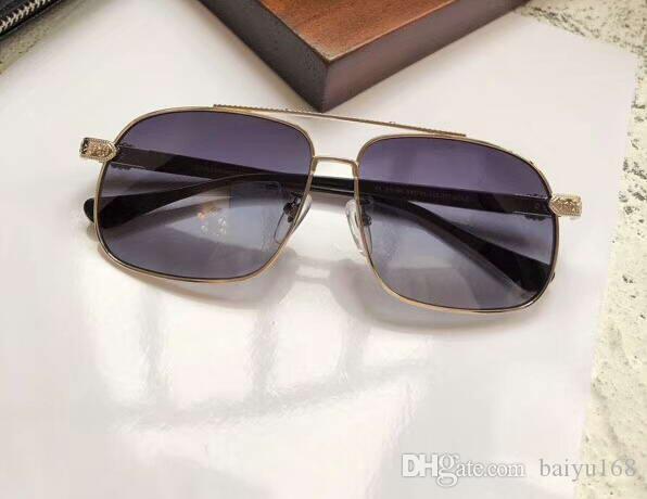 Raffreddare la protezione Uomini pilota Occhiali da sole Silve / blu protetto glsses occhiali da sole della spiaggia di modo Eyewear UV Nuovo con scatola
