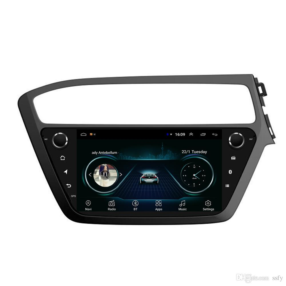 Android car system language mutil-touch screen good bluetooth HD1080 display Resolution 1024 * 600 USB for Hyundai i20 2014-2017 9inch