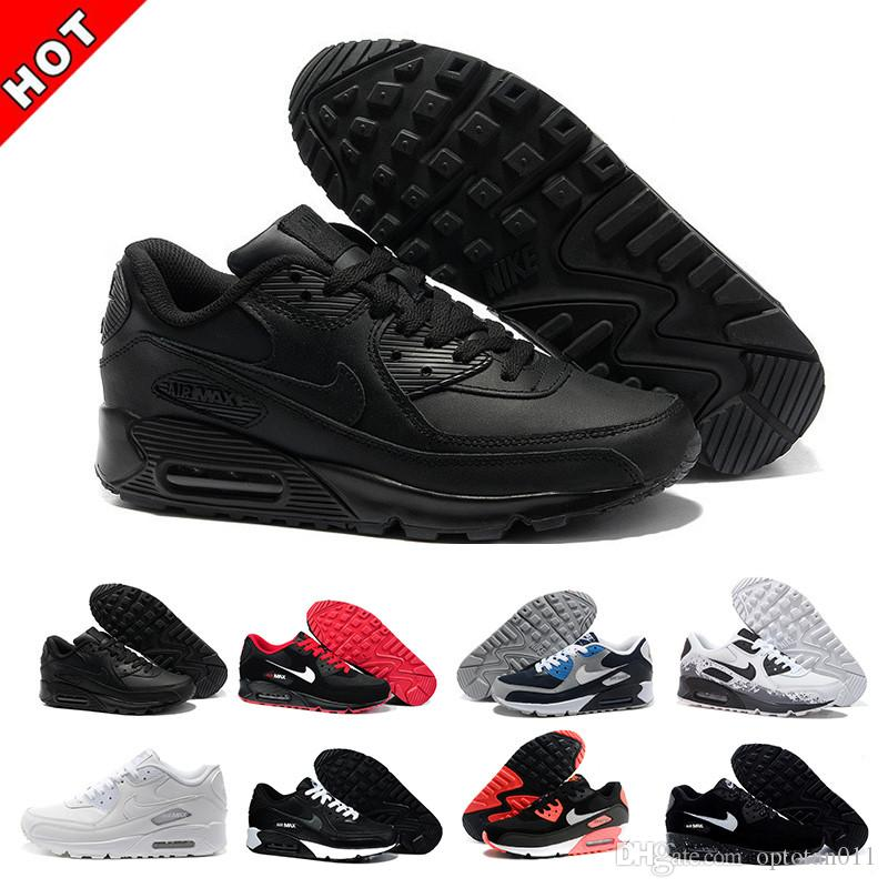 nike air max 90 90s airmax 2019 Scarpe da uomo Classic 90 uomini e donna scarpe Trainer cuscino d'aria di superficie Casual Shoes 36-45 CIL-6