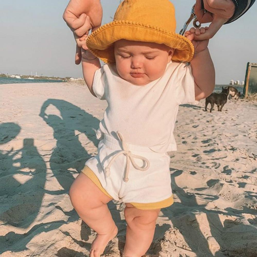 Enfants Baby Fashion Vêtements Set Enfant Casual Couleur Solid Color T-shirts + Shorts Deux Morceau Ensembles Garçons Filles Brand Vêtements Vêtements Vêtements Respirants Neuf