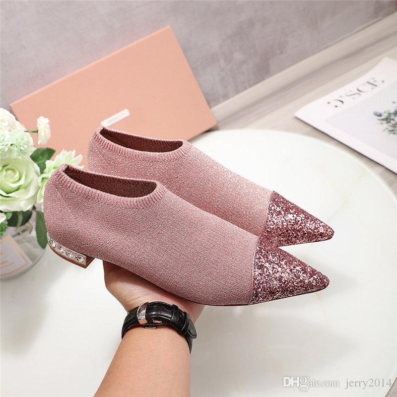 2019 marque designer de luxe designer chaussures femmes chaussures de designer appartements marque féminine fabricant de mode designer chaussures de luxe bling bling femme plate